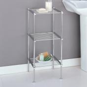 Neu Home 16983 Metro Chrome 3 Tier Bathroom Organizer Shelves