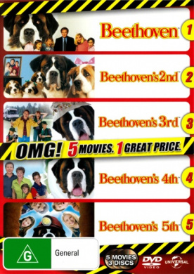 Beethoven's Dog Gone (Beethoven / Beethoven's 2nd / Beethoven's 3rd / Beethoven's 4th / Beethoven's 5th) (5 Movies) (3 Discs)
