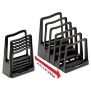 Avery 73523 Adjustable File Rack Five Sections 8 x 10 .75 x 11 .75 Black