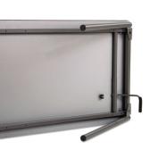 Iceberg Maxx Legroom-Series Wood Folding Table, 70cm H x 80cm W x 150cm D, Grey/Black