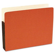Durable File Pocket, 3 1/2 Inch Expansion, 11 3/4 x 9 1/2, Letter, Red, 25/Box