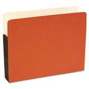 Durable File Pocket, 5 1/4 Inch Expansion, 11 3/4 x 9 1/2, Legal, Red, 10/Box