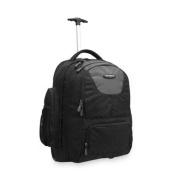 Wheeled Backpack,w/Organisational Pockets, Black