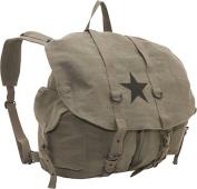 Vintage Canvas Backpack w/ Star