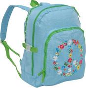 Agatha Ruiz de la Prada Peace & Love Large Blue Backpack