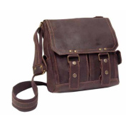 Distressed Leather Vertical Letter Size Messenger
