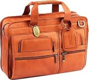 Claire Chase 149E-saddle Slimline Executive Briefcase - Saddle