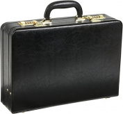 Expandable Executive Faux Leather Attache Case