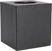 Royce Leather 786-BLACK-6 Tissue Box - Black
