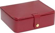 Budd Leather 542559L-9 Lizard Print Small Jewelry Box - Red