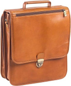 Clava 4057TAN Upright Vertical Leather Brief - Tan