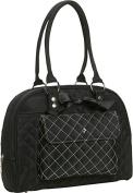 JP Lizzy Designer Baby Gear Black Tea Cate Tote Nappy Bag Purse Set