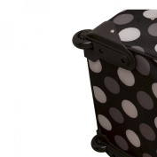 """Rockland 19"""" Rolling Carry On with Tote - New Black Dot"""