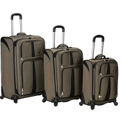 ROCKLAND POLO EQUIPMENT F156-KHAKI 3PC ECLIPSE SPINNER LUGGAGE SET