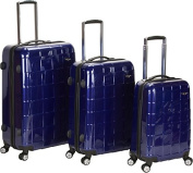 ROCKLAND F129-PURPLE 3PC CELEBRITY POLYCARBONATE/ABS LUGGAGE SET