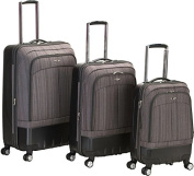 Rockland Luggage 3-Piece Milan Hybrid/ABS Spinning Luggage Set, Brown