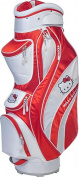 Williams Sports Holdings CB-HKG.WH-RED Hello Kitty Golf Mix & Match Cart Bag White- Red
