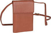 Royce Leather 220-TAN-5 Deluxe Passport Case With Removable Neck / Shoulder Strap - Tan