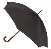 Traditional Auto Open Wood Shaft Umbrella - Solid Colors