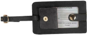 Royce Leather 951-BLACK-5 Snap Luggage Tag - Black