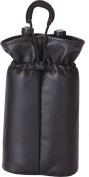 Picnic Plus Psm-113Bll Double Bottle Pouch Black Faux Leather