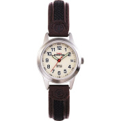 Timex Women's Expedition Metal Field Watch, Brown Leather and Nylon Strap