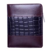Leather Wallet w/Croc Accents
