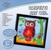 Craft for Kids - Confetti Art Owl