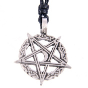 Pentacle Pewter Pendant - Star in Celtic Circle