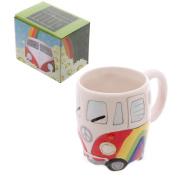 Rainbow Ceramic Camper Van Mug
