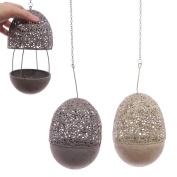 Hanging Metal Filigree Egg Tealight Holder
