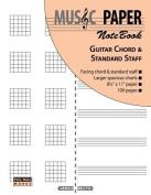 Music Paper Notebook - Guitar Chord & Standard Staff