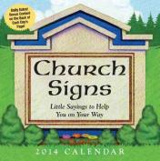 Church Signs Calendar