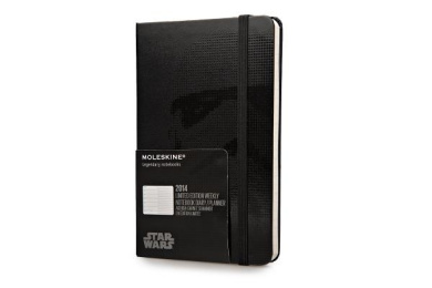 Moleskine 2014 Star Wars Limited Edition Weekly Planner, 12 Month, Pocket, Black, Hard Cover (3.5 X 5.5)