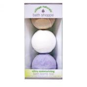 Village Naturals Bath Shoppe Bath Bomb Trio (Lavender, Vanilla & White Tea) 160ml