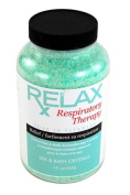 Respiratory Rx Bath Crystals -19 Oz- Therapeutic Natural Mineral Salts & Vitamins - Breath Relief for Spas, Jacuzzi, Whirlpool