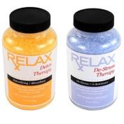 Detox & Stress Therapy Aromatic Bath Minerals, Salts, & Vitamins - 560ml Crystals - Body Soak or Scrub for Shower, Tub, Spa