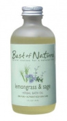 Lemongrass & Sage Bath Oil - 120ml - 100% Pure