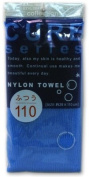 Cure Series Japanese Exfoliating Bath Towel from OHE - Medium Weave - Blue, 110cm