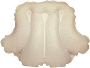 Spa Sister Luxury Inflatable Terry Bath Pillow Beige