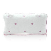 Spa Sister Luxury Terry Velour Bath Pillow Pink Dots