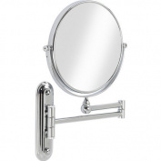 Better Living Products Valet Wall Mount Magnified Mirror, Chrome, 20.3cm