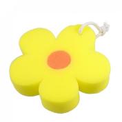 Amico Bathroom Flower Shaped Orange Body Massage Washing Cleaner Bathing Bath Sponge