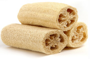 """Natural Loofa Exfoliating Bath Sponge (3 Pack of 15.2cm ) by Spa Destinations """"Creating The In Home Spa Experience"""""""