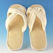 Loofah Bath & Spa Slippers - Criss Cross Slippers