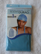 Aqua Sky Blue DuRag Hat - Tie down Du-Rag Hair Cap