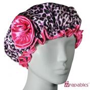 Kella Milla . Satin Shower Cap - Pink Leopard