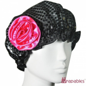 Kella Milla . Satin Shower Cap - Black Glitter & Rose