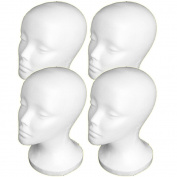 4PCs A1Pacific 27.9cm STYROFOAM FOAM MANNEQUIN MANIKIN head wig display hat glasses