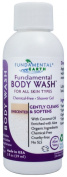 Fundamental Body Wash - Unscented Natural Shower Gel - 60ml Travel Size - Made in USA